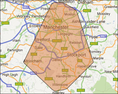 Stockport map